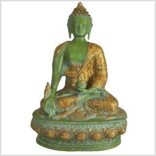 Medizinbuddha Lifebuddha 33cm mintgrün vorne