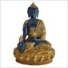 Medizinbuddha mit Steinarbeit Messing schwarzgold 34cm Vorne