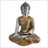 Erdender Buddha Messing Silber 32cm Vorne