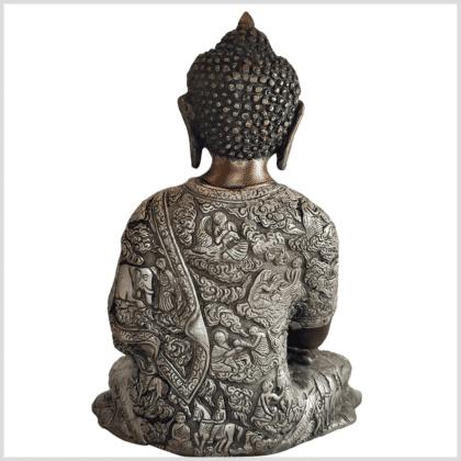 Erdender Buddha Life 6kg Messing Kupfer Silber Handarbeit hinten