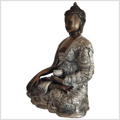 Erdender Buddha Life 6kg Messing Kupfer Silber Handarbeit links