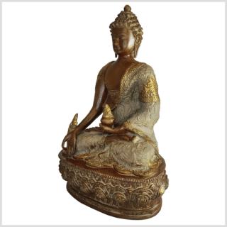 Medizinbuddha Medizin Buddha Beigebraun Seite links