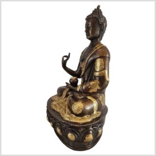 Lehrender Buddha 31cm Messing Kupfer links