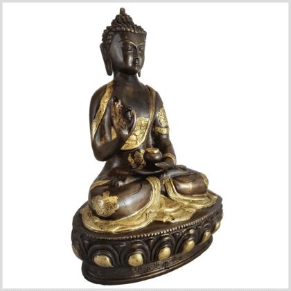 Lehrender Buddha 31cm Messing Kupfer rechts