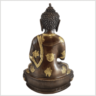 Lehrender Buddha 31cm Messing Kupfer hinten