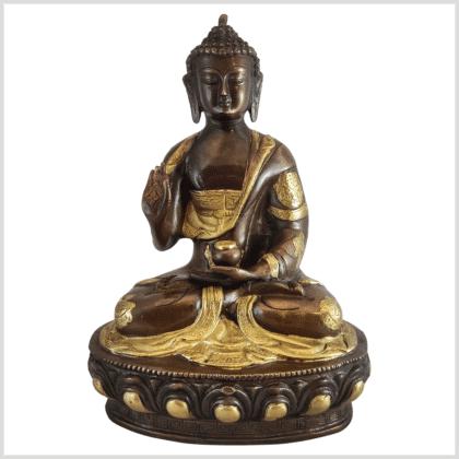 Lehrender Buddha 31cm Messing Kupfer vorne