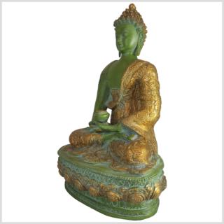 Erleuchteter Buddha mintdunkelgrün 4kg Seite links