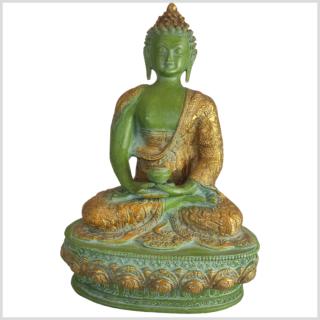 Erleuchteter Buddha mintdunkelgrün 4kg Vorderseite