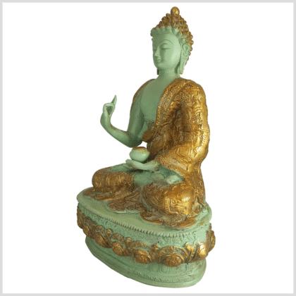 Lehrender Buddha mintgrün Lifebuddha 4kg 33cm links