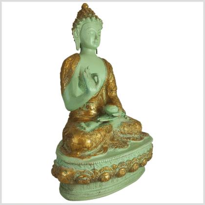 Lehrender Buddha mintgrün Lifebuddha 4kg 33cm rechts