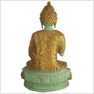 Lehrender Buddha mintgrün Lifebuddha 4kg 33cm hinten